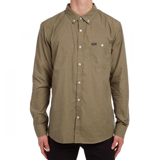 Brixton Central Long Sleeve Shirt - Olive
