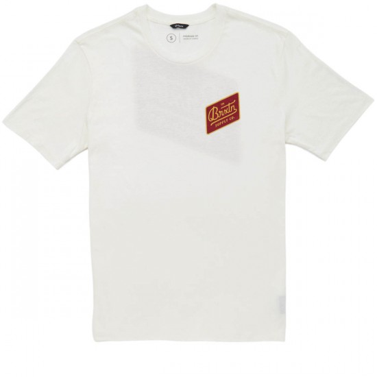Brixton Bedford T-Shirt - Off White