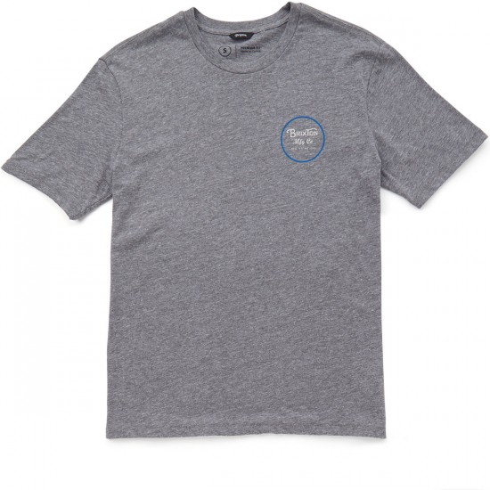 Brixton Wheeler T-Shirt - Heather Grey