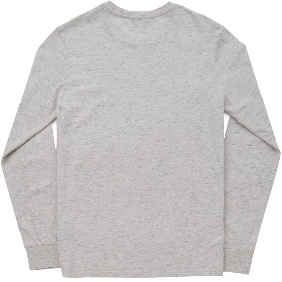 Brixton Reggie Long Sleeve T-Shirt - Heather Stone