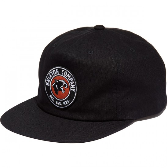 Brixton Legion HP Snapback Hat - Black