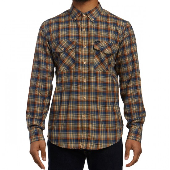 Brixton Memphis Shirt - Copper Plaid