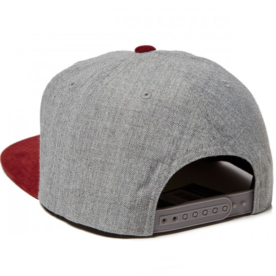 Brixton Oath III Hat - Heather Grey/Cardinal