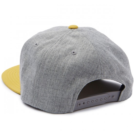 Brixton Oath III Snapback Hat - Heather Grey/Gold