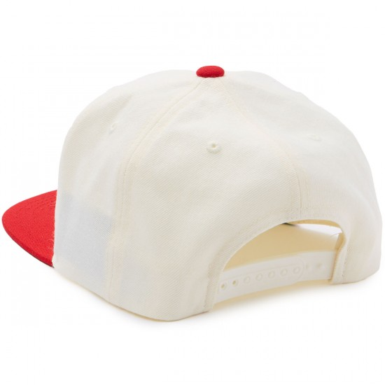 Brixton Oath III Snapback Hat - Off White/Red