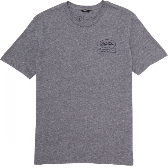 Brixton Dale T-Shirt - Heather Grey