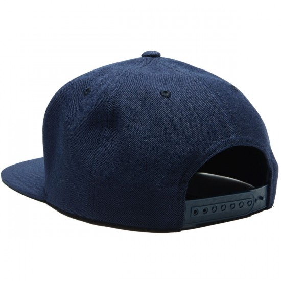 Brixton Jolt Snapback Hat - Navy/Red