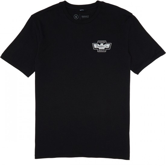 Brixton Federal T-Shirt - Black/White