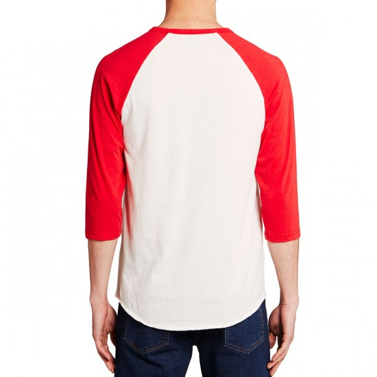 Brixton X Coors Colorado 3/4 Sleeve T-Shirt - Off White/Red