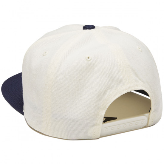 Brixton Oath III Snapback Hat - Off White/Navy/Gold