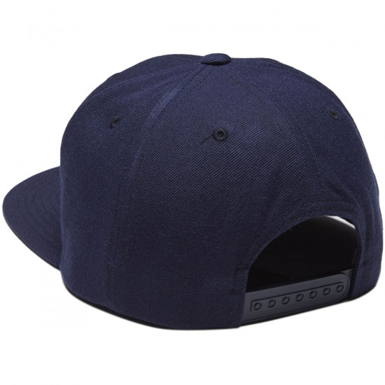 Brixton Rival Snapback Hat - Navy/Red