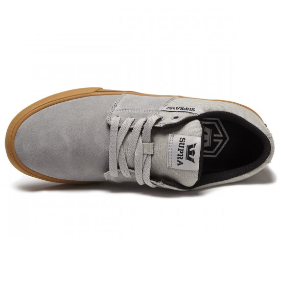 Supra Stacks Vulc II Shoes - Grey/Gum - 9.0