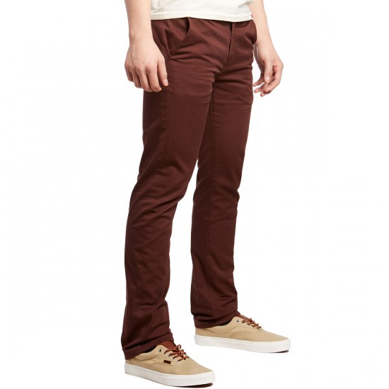 KR3W K Slim Chino Pants - Oxblood - 28 - 32