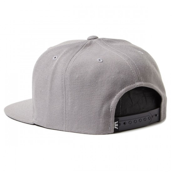 Supra Above Snap Hat - Silver/Black