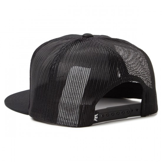 Supra Icon Patch Trucker Hat - Black