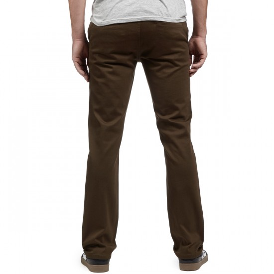 KR3W K Slim Chino Pants - Dark Drab - 30 - 32