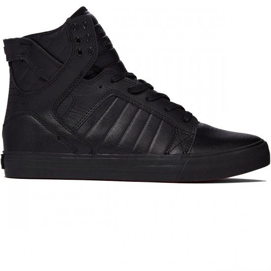 Supra Skytop Shoes - Black/Black - 8.0