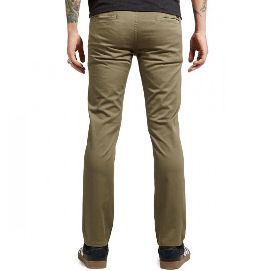 KR3W K Slim Chino Pants - Light Olive - 31 - 32