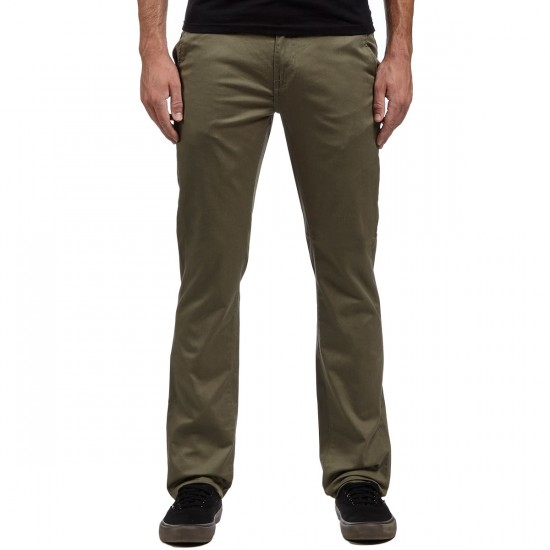 KR3W K Slim Chino HO16 Pants - Light Olive - 30 - 32