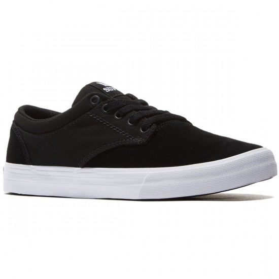 Supra Chino Shoes - Black/White - 8.0