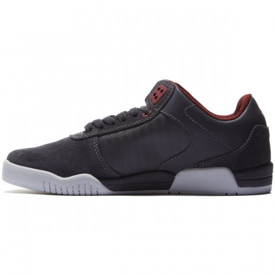 Supra Ellington Shoes - Charcoal/Burgundy/Light Grey - 8.0