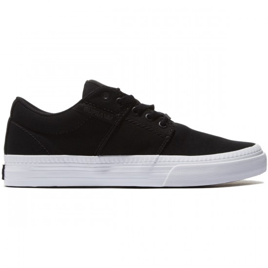Supra Stacks Vulc II HF Shoes - Black/White - 8.0
