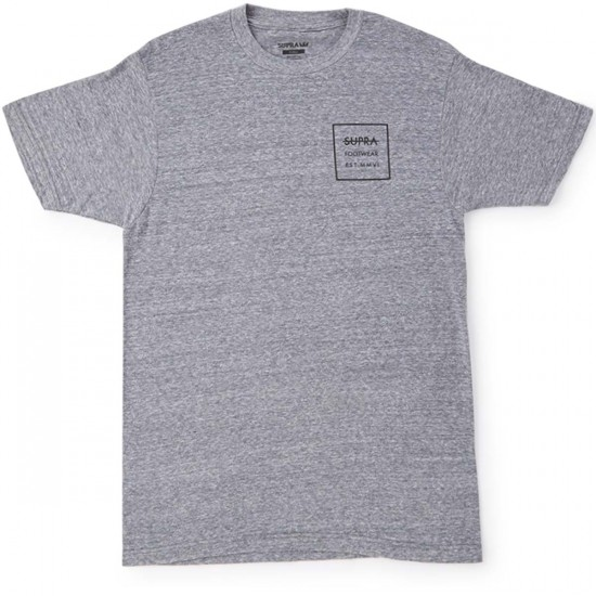 Supra Label Square T-Shirt - Heather Grey