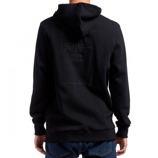 Supra Label Square Zip Hoodie - Black