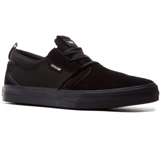 Supra Flow Shoes - Black/Black - 8.0
