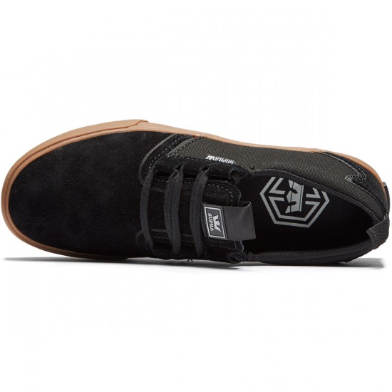 Supra Flow Shoes - Black/Gum - 8.0
