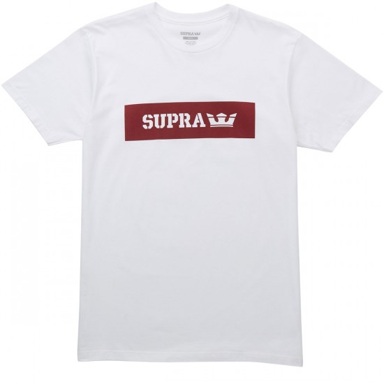 Supra Logo T-Shirt - White/Red