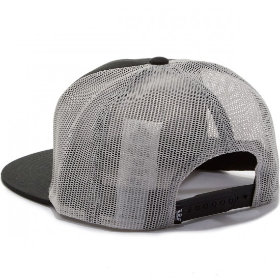 Supra Icon Patch Trucker Hat - Black/Grey