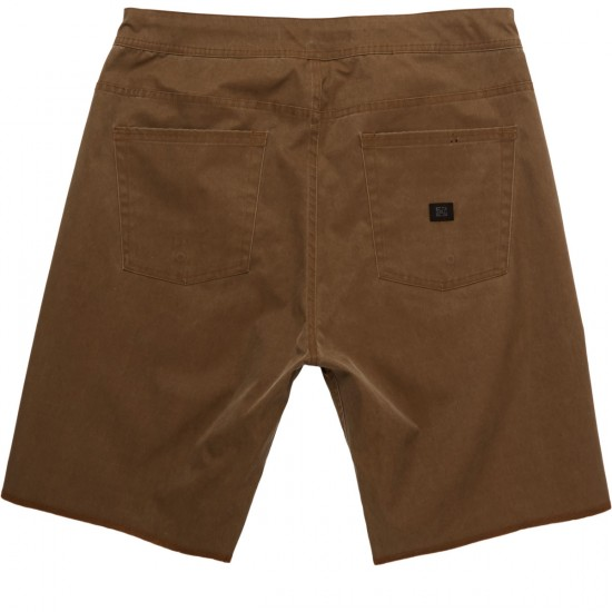 Kr3w K Standard Wino Chiller Shorts - Washed Coffee