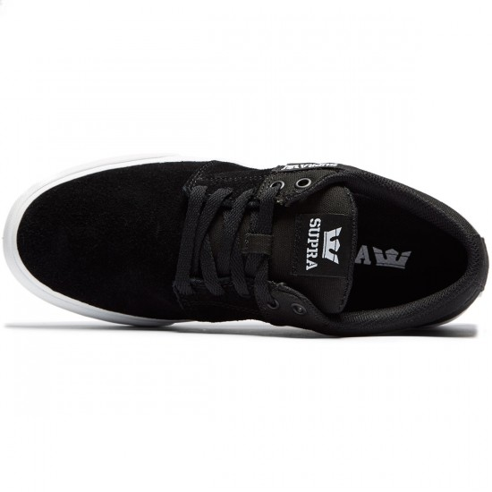 Supra Stacks Vulc II Shoes - Black Suede/White - 8.0