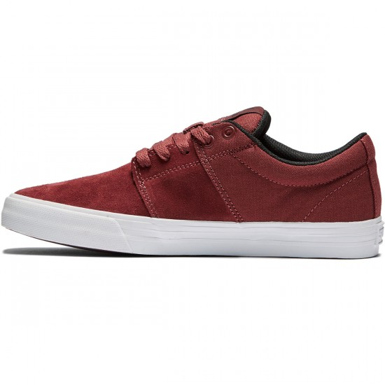 Supra Stacks Vulc II Shoes - Burgundy/Black/White - 8.0