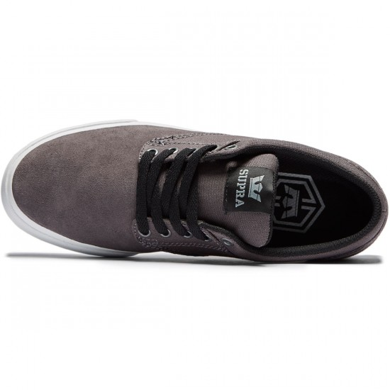 Supra Chino Shoes - Dark Grey/Grey/White - 8.0