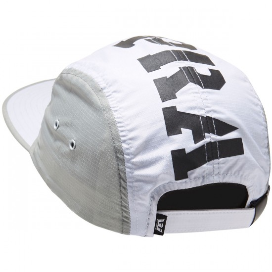 Supra Major 5 Panel Hat - White/Grey