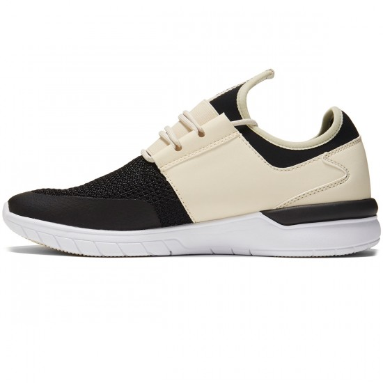Supra Flow Run Shoes - Cream/Black/White - 8.0