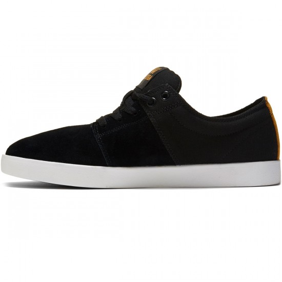 Supra Stacks II Shoes - Black Suede/White - 8.0
