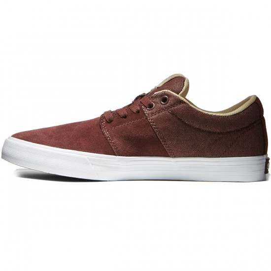 Supra Stacks Vulc II Shoes - Mahogany/White - 8.0