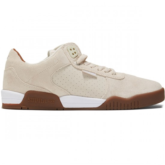 Supra Ellington Shoes - White Suede/Gum - 8.0