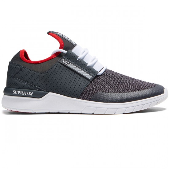Supra Flow Run Shoes - Dark Grey/White - 8.0