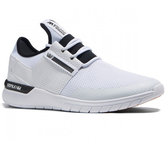 Supra Flow Run Shoes - White/White - 8.0