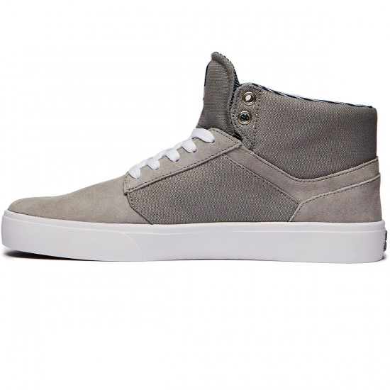 Supra Yorek High Shoes - Grey/White - 8.0