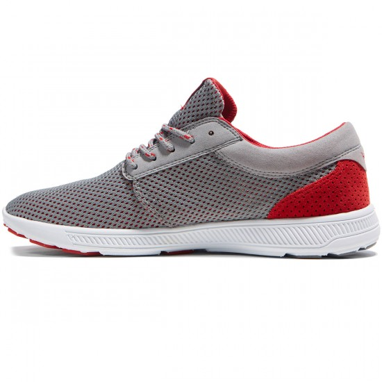 Supra Hammer Run Shoes - Grey/Red - 8.0