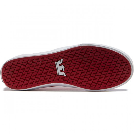 Supra Flow Shoes - Red/White