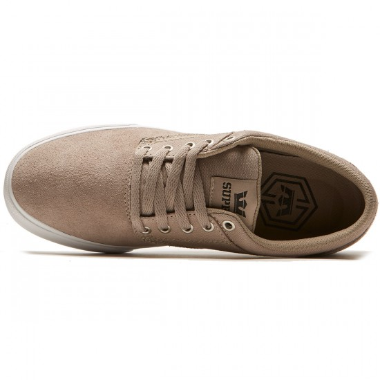 Supra Chino Shoes - Vintage Khaki/White - 8.0