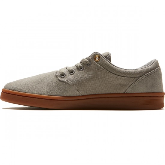 Supra Chino Court Shoes - Light Grey/Gum - 8.0