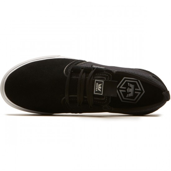 Supra Flow Shoes - Black/Black Denim - 8.0