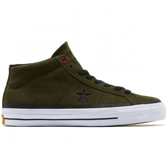 Converse One Star Pro Shoes - Herbal/Black/White - 8.0